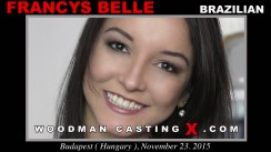 Watch our casting video of Francys Belle. Erotic meeting between Pierre Woodman and Francys Belle, a Brazilian girl.