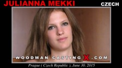Download Julianna Mekki casting video files. A Czech girl, Julianna Mekki will have sex with Pierre Woodman.