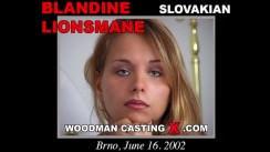 Access Blandine Lionsmane casting in streaming. Pierre Woodman undress Blandine Lionsmane, a Slovak girl.