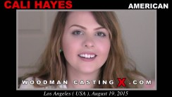Download Cali Hayes casting video files. Pierre Woodman undress Cali Hayes, a American girl.