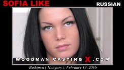 Watch our casting video of Sofia Like. Erotic meeting between Pierre Woodman and Sofia Like, a  girl.