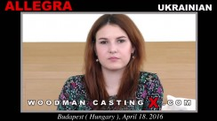 Look at Allegra getting her porn audition. Pierre Woodman fuck Allegra, Ukrainian girl, in this video.