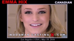 Download Emma Hix casting video files. A Canadian girl, Emma Hix will have sex with Pierre Woodman.