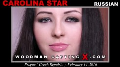 Watch our casting video of Carolina Star. Erotic meeting between Pierre Woodman and Carolina Star, a Russian girl.