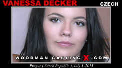 Access Vanessa Decker casting in streaming. Pierre Woodman undress Vanessa Decker, a Czech girl.