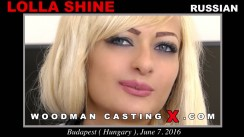 Watch our casting video of Lolla Shine. Erotic meeting between Pierre Woodman and Lolla Shine, a Russian girl.