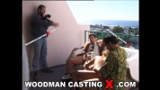Christi lake - BTS - DP on balcony with 3 men