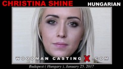 Watch our casting video of Christina Shine. Erotic meeting between Pierre Woodman and Christina Shine, a Hungarian girl.